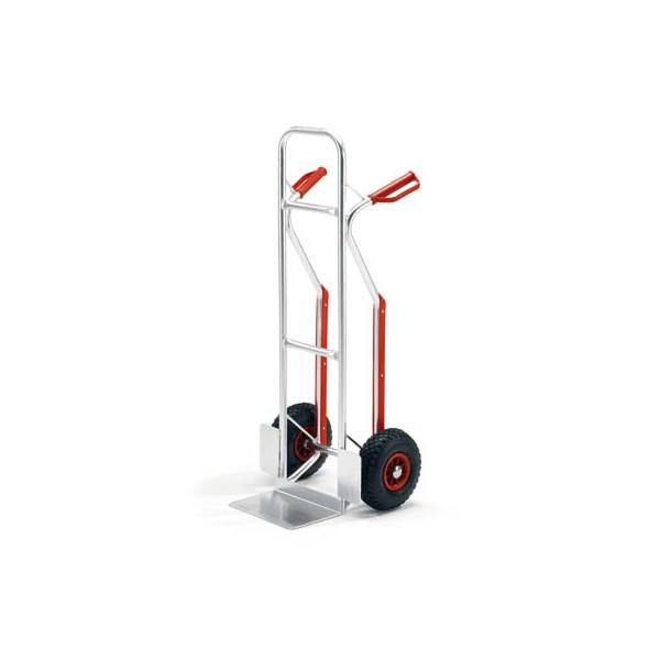 Rollcart Sackkarre 21-9154 tragfähig bis 150kg silber 30x20cm Aluminium Luftbereifung