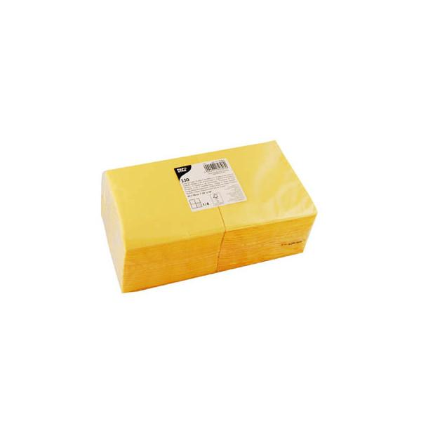 PAPSTAR 250 Servietten gelb 82896
