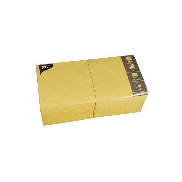 PAPSTAR 250 Servietten gelb 82569