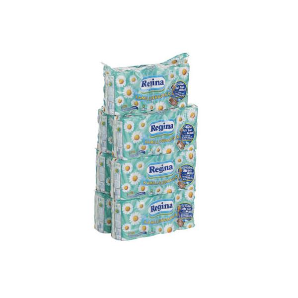 Regina Toilettenpapier Kamillenpapier 212955 3-lagig 56 Rollen