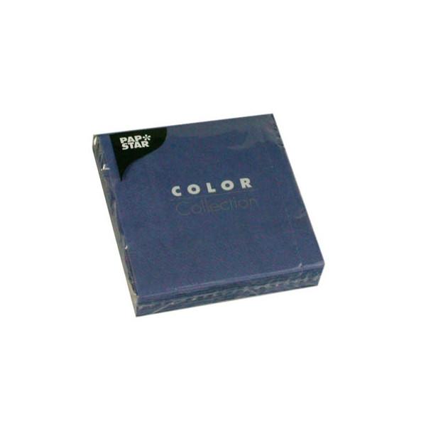 """PAPSTAR 20 Servietten """"Color Collection"""" dunkelblau 14274"""