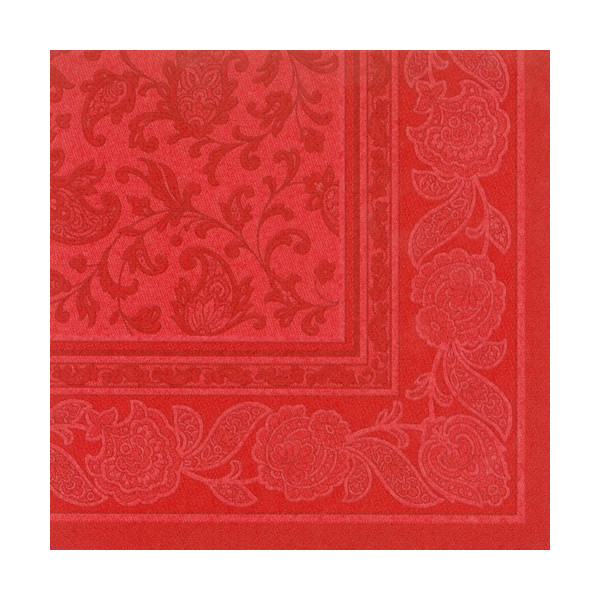 "PAPSTAR 20 Servietten ""ROYAL Collection"" 1/4-Falz 40 cm x 40 cm rot ""Ornaments"" 11418"