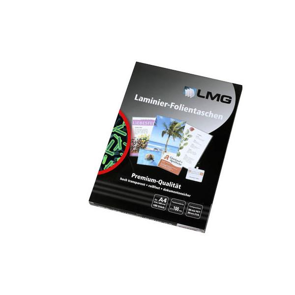 LMG 100 Laminierfolien glänzend für A4 AB-A4-100