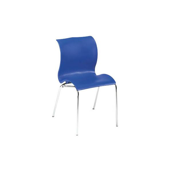 Besucherstuhl blau 1168-009