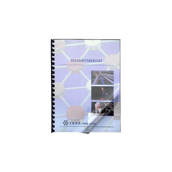LMG Umschlagfolien UMT020T A4 PVC 0,2 mm transparent klar 100 Stück