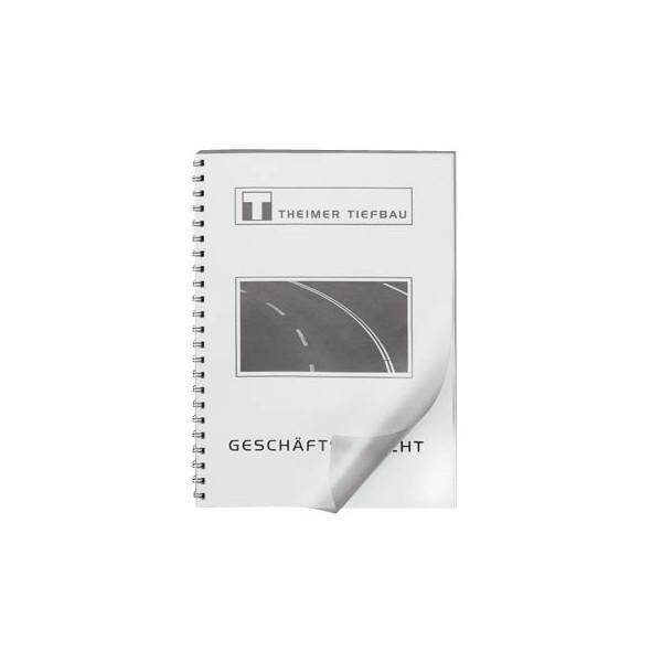 LMG Umschlagfolien UMT020M A4 PVC 0,2 mm transparent matt 100 Stück