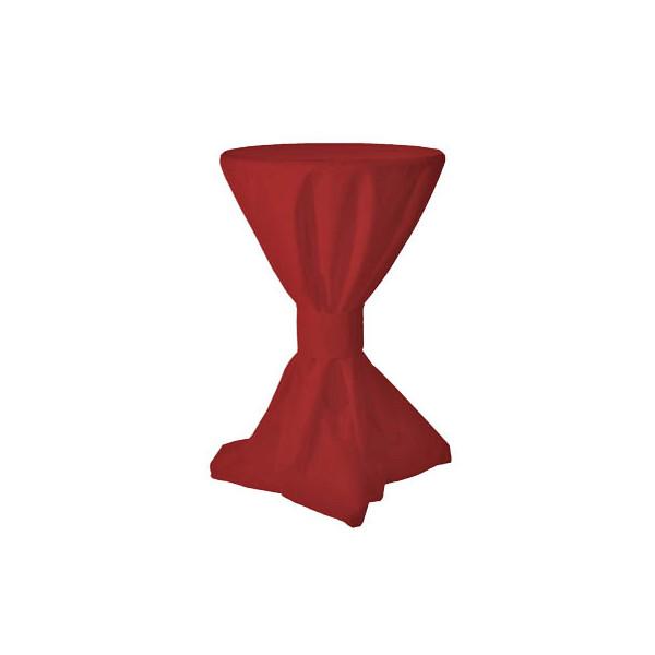 Tischdecke Überzug für Stehtische rot Ø 70cm 08000014