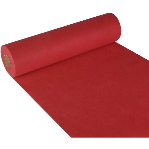 """PAPSTAR Tischläufer, stoffähnlich, Vlies """"soft selection"""" 24 m x 40 cm rot auf Rolle 84322"""