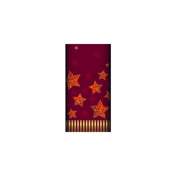 """PAPSTAR Tischdecke, stoffähnlich, Airlaid 120 cm x 180 cm rot """"Sparkling Stars"""" 85896"""