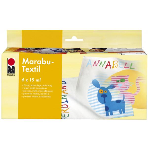 MARABU MARABU 1716 00 087 Textilfarbe Starter Set