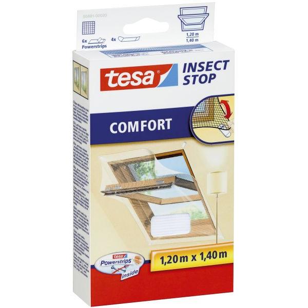TESA 55881-00020-00 1,2x1,4m Fliegengitter Dachfenster weiß