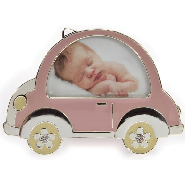 BELICE GOLDBUCH 960080 f.8x5cm Fotorahmen Baby Auto rosa