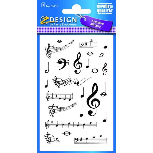 Zweckform 55151 Schmucketikett Musiknoten