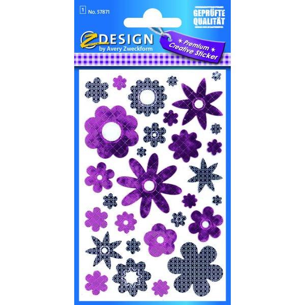 Zweckform 57871 Foliensticker Schmucketikett Blumen