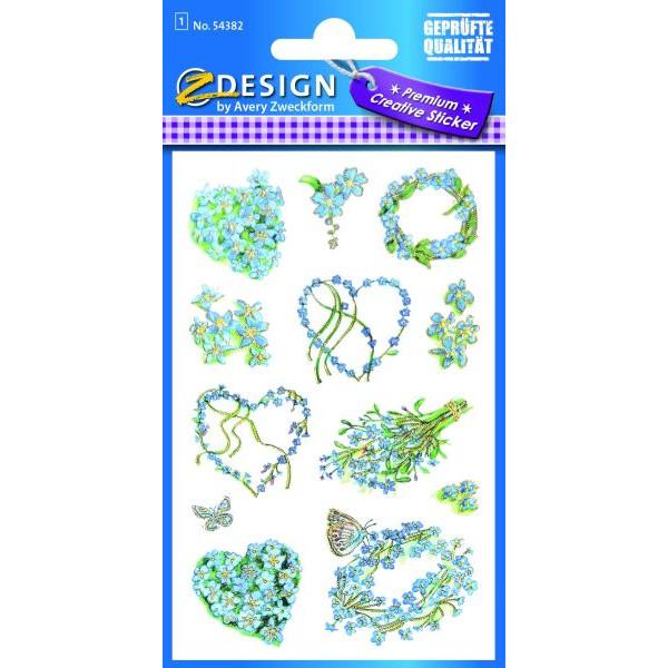 Zweckform 54382 Sticker Flower Vergissmeinnicht