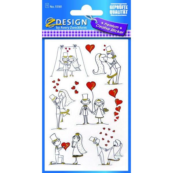 Zweckform 55181 Sticker Brautpaar