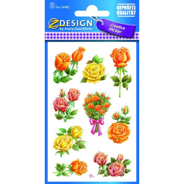 Zweckform 54482 Sticker Flower Rosen