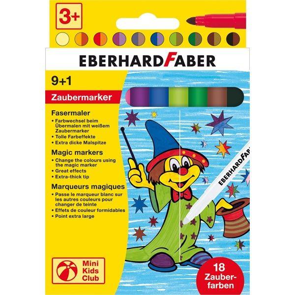 Eberhard Faber EBERHARD FABER 551010 Zauber Faserschreiberetui 10St sort.