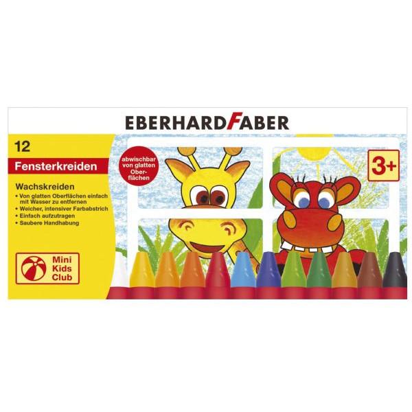 Eberhard Faber 524112 Wachsmalkreide f.Fenster 12ST sort.