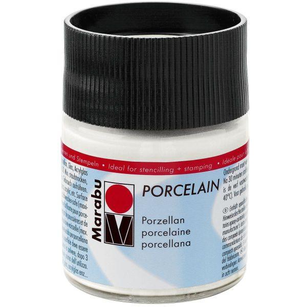 MARABU Porzellanmalfarbe Porcelain 11050 005 070, weiß, 50ml