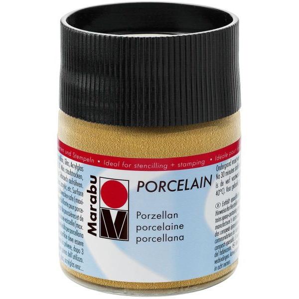 MARABU Porzellanmalfarbe Porcelain 11050 005 784, gold, 50ml