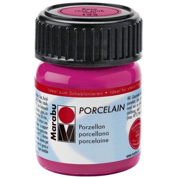 MARABU Porzellanmalfarbe Porcelain 11050 039 133, rosa, 15ml