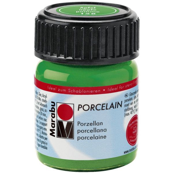 MARABU Porzellanmalfarbe Porcelain 11050 039 158, apfel, 15ml