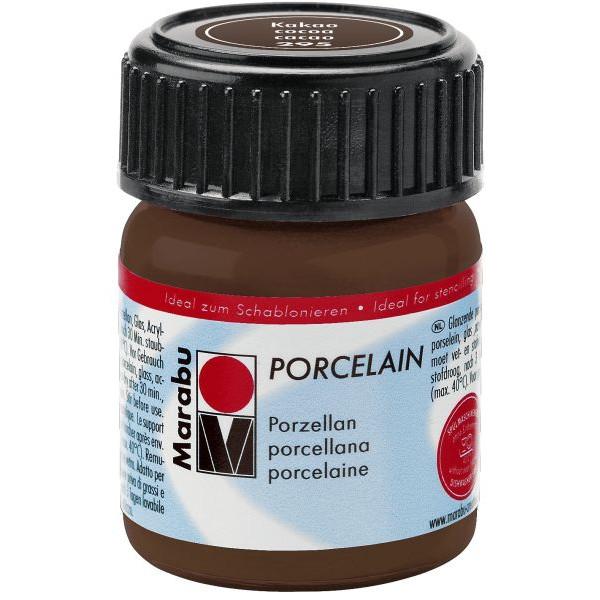 MARABU Porzellanmalfarbe Porcelain 11050 039 295, kakao, 15ml