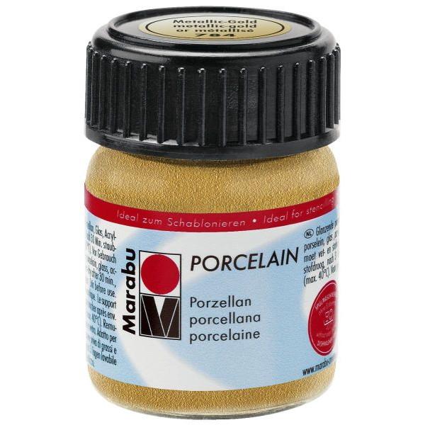 MARABU Porzellanmalfarbe Porcelain 11050 039 784, gold, 15ml