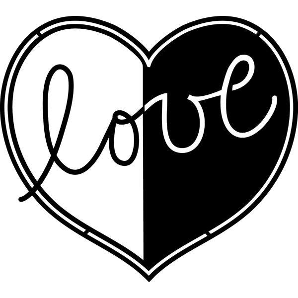 MARABU Schablone 02870 000 00 007, Love, 15x15cm
