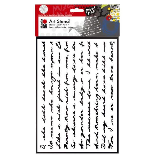 MARABU Schablone Art Stencil 02850 000 00 007, Script, A4