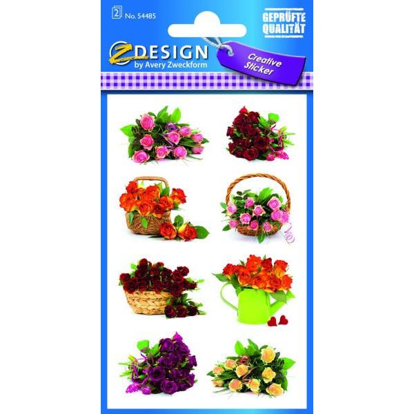 Zweckform 54485 Sticker Flower Sträuße