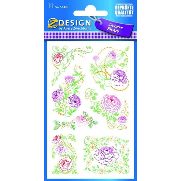 Zweckform 54488 Sticker Flower Rosen