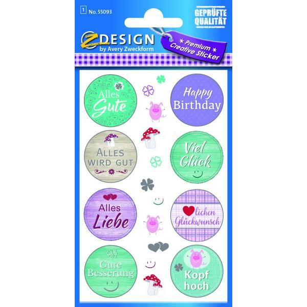 Zweckform 55093 Sticker Wünsche