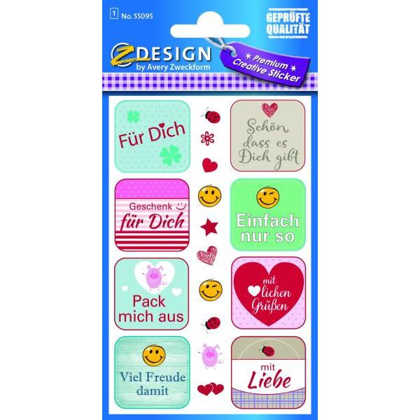 Zweckform 55095 Sticker Sprüche