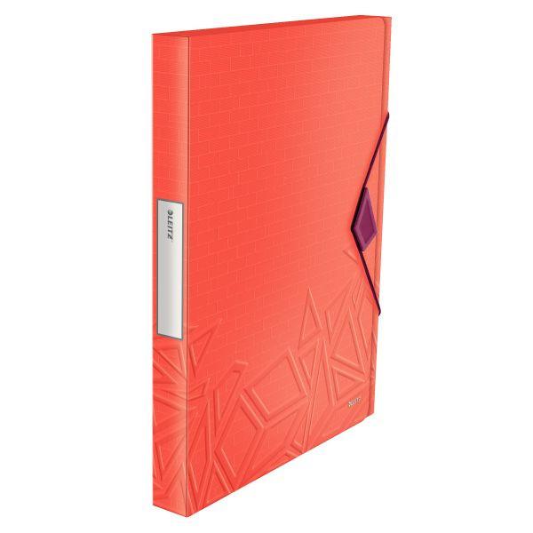 LEITZ 3999-00-24 Gummizugverschluß Heftbox Urban Chic A4 30mm PP rot