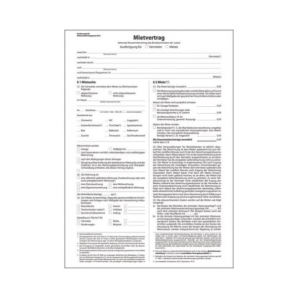 SIGEL MV469 Mietvertrag 6 seitig A4