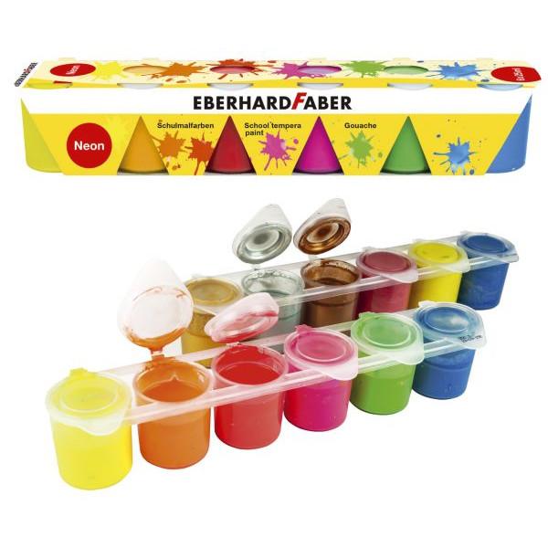 Eberhard Faber Schulmalfarben Neon, 6 x 25 ml