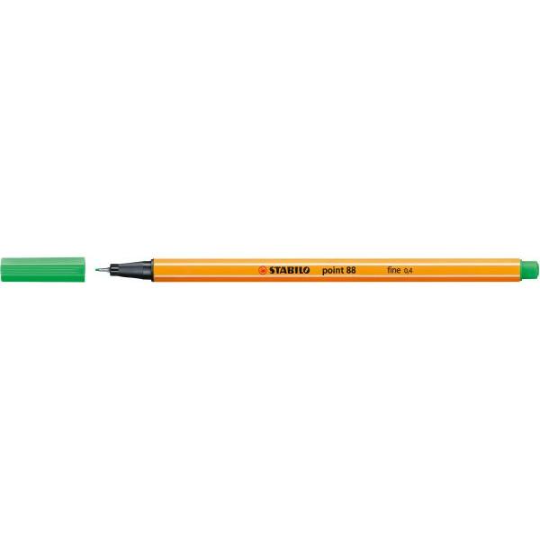 Stabilo Fineliner point 88 0,4 mm, smaragdgrĂĽn