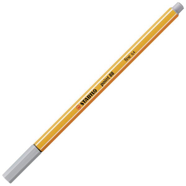 Stabilo Fineliner point 88 0,4 mm, mittelgrau