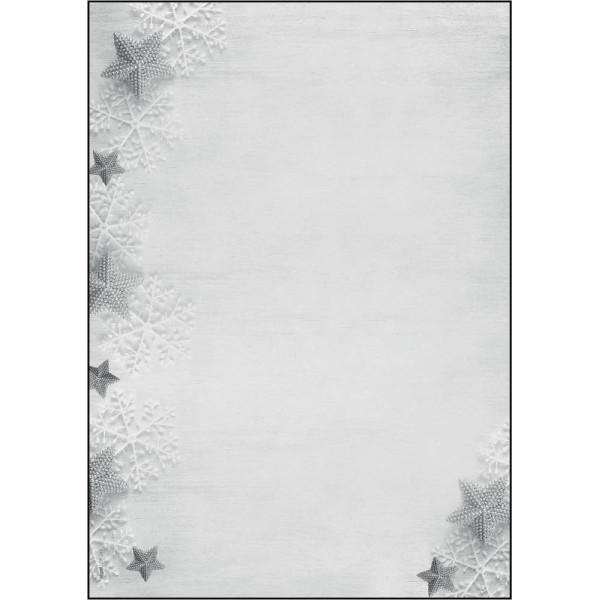 Sigel Weihnachtspapier Frozen Stars A4 100 Blatt DP248