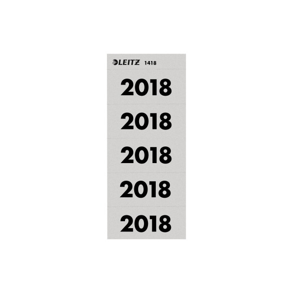 Leitz Jahreszahlen 2018 grau 60x25,5mm selbstklebend 100 Stück