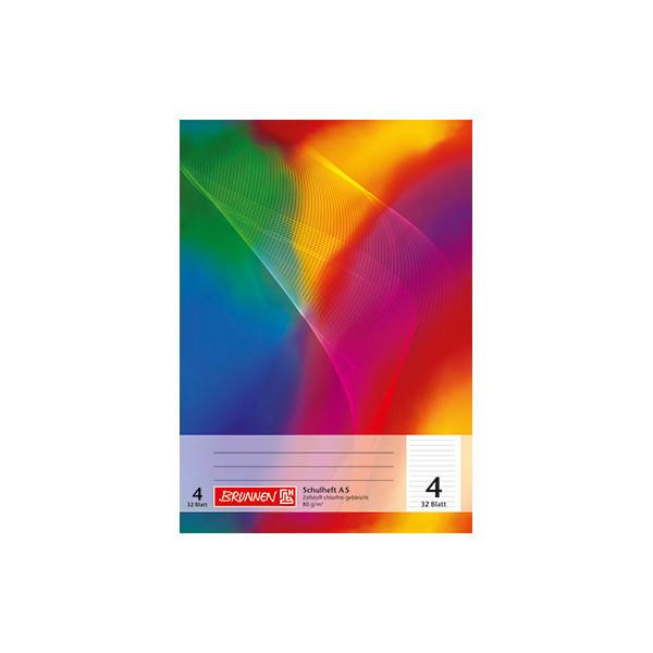 BRUNNEN Schulheft A5 Lineatur 4 liniert weiss 32 Blatt