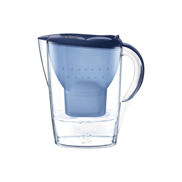 BRITA Wasserfilter Marella Cool Brita Tischwasserfilter blau