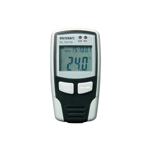 VOLTCRAFT Luftfeuchte-Messgerät DL-141TH 0-100% -40°C +70°C schwarz