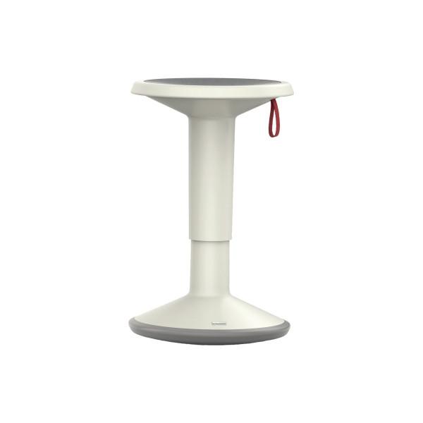 INTERSTUHL Sitzhocker UpIs1 100U grau/weiß