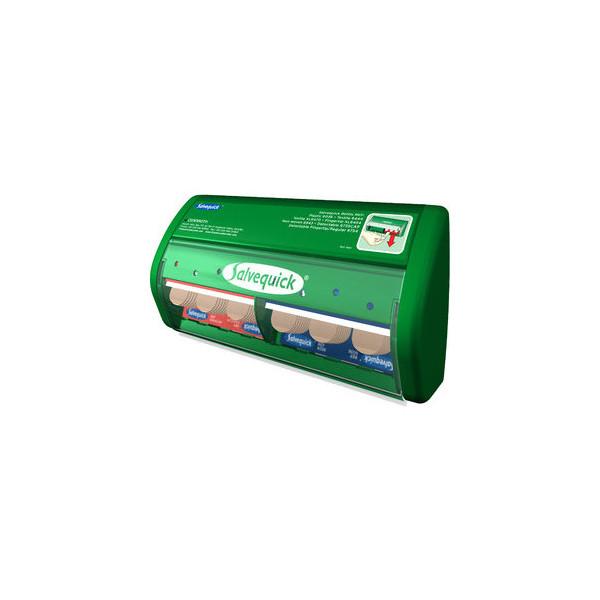 Salvequick Pflasterspender 4907 grün gefüllt 85 Pflaster
