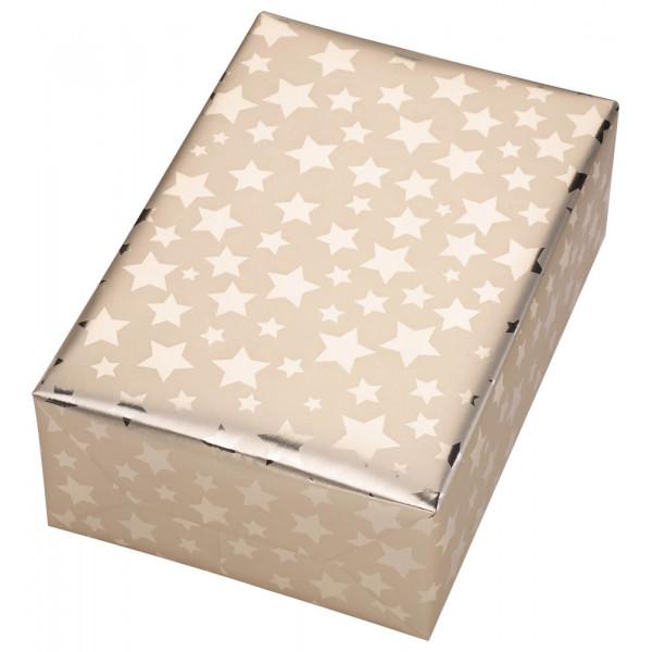 Geschenkpapier Diadem Sterne gold 50cm x 20m