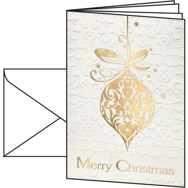 sigel Weihnachtskarten Golden Fantasy A6 10 Stück inkl. weißen Umschlägen DS049