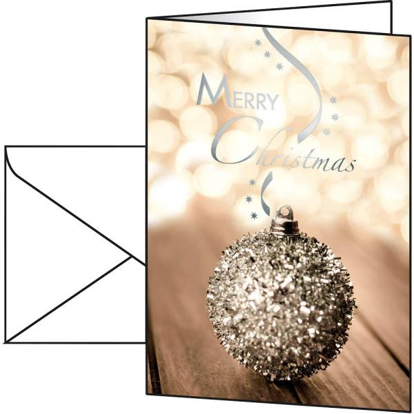 sigel Weihnachtskarten Serenity A6 10 Stück inkl. weißen Umschlägen DS051